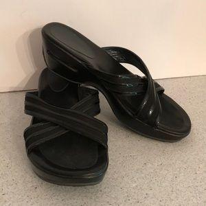 Cole Haan Nike Air Black platform slides sandals